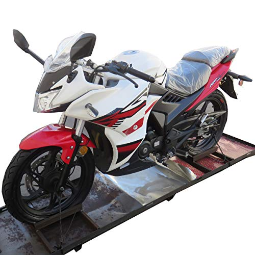 200cc Adult Motorcycle Gas Motorcycle Moped Scooter Lifan KPR 200 Fully Assembled (White/Black)