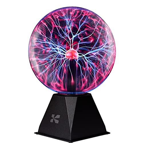Katzco Plasma Ball - 7 Inch - Nebula, Thunder Lightning, Plug-in - for Parties, Decorations, Prop, Home