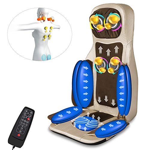 zinnor Massage Car Seat Cushion with Heat, Automatic Full-Body Massage Chair Relieve Muscle Pain for Back and Neck