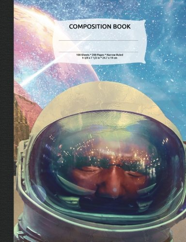 Space Astronauts and Pyramids Composition Notebook, Narrow Ruled: Lined Student Exercise Book