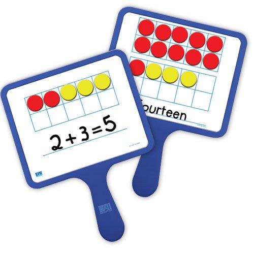 EAI Education Magnetic Ten Frame Dry-Erase Paddles: Set of 5