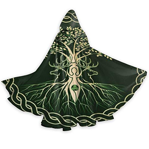 Celtic Ritual Norse Nordic Viking Goddess Wiccan Wicca Halloween Wizard Witch Hooded Robe Cloak Christmas Hoodies Cape Cosplay For Adult Men Women Party Favors Supplies Dresses Clothes Gifts Costume