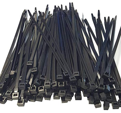 100 count USA Made CABLE TIES (Zip Ties) (14 inch, Black)