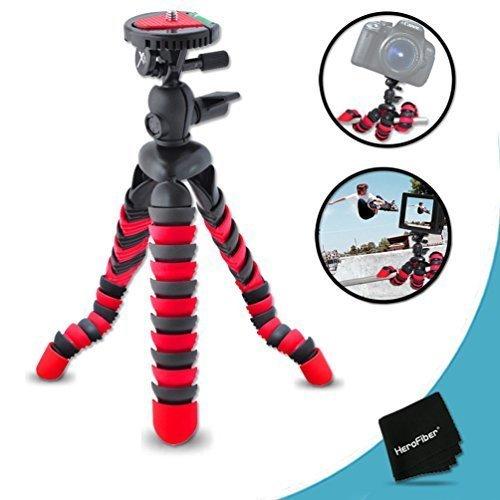 """12"""" Inch Flexible Tripod for Canon EOS Rebel T7i T7 T6i T6S T5i T5 T4i T3i T3 T2i SL3 SL2 SL1 EOS 90D 80D 70D 60D 7D 6D 5D 750D 700D 650D 1300D 1200D 1100D EOS M3 M2 XTi 7D Mark II III DSLR Cameras."""