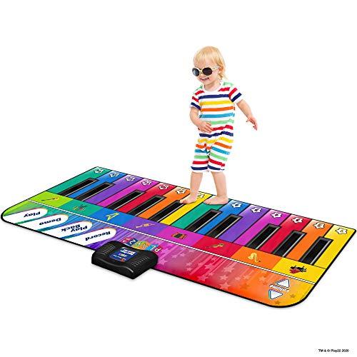 Play22 Colorful Keyboard Playmat 71' - 24 Keys Piano Play Mat - Piano Mat has Record, Playback, Demo, Play, Adjustable Vol. - Best Keyboard Piano Gift for Boys & Girls - Original