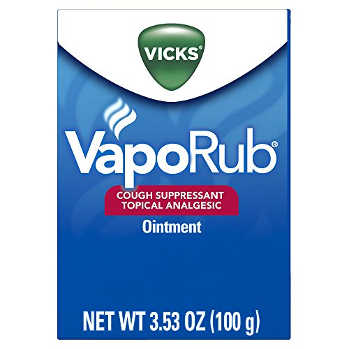 Vicks VapoRub Cough Suppressant Chest and Throat Topical Analgesic Ointment, Eucalyptus and Menthol Vapor, 3.53 Ounce