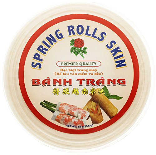 Rose Rice Paper Spring Rolls Skin, 12 Ounce (Pack of 20)