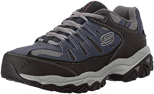 Skechers mens Afterburn M. Fit fashion sneakers, Navy, 10 X-Wide US