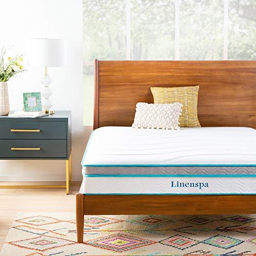 Linenspa Memory Foam and Innerspring Hybrid Medium Feel-Twin,10 Inch Mattress, 10-Inch