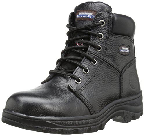 Skechers for Work Women's Workshire Peril Boot, Black, 9.5 M US