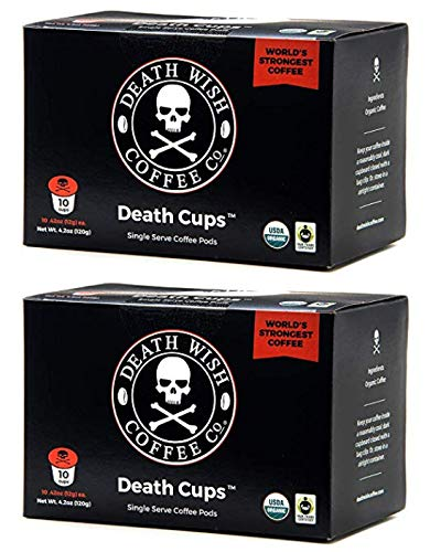 Death Wish Coffee Single Serve Capsules for Keurig K-Cup Brewers, 0.44 oz Each - 20 Count