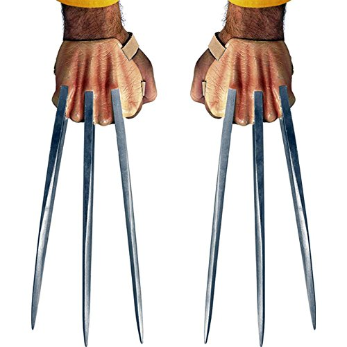 Disguise Marvel The Wolverine Adamantium Claws Costume Accessory, Silver/Beige, One Size Adult