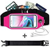 Smartlle Fanny Pack, Running Belt, Waist Bag for Women & Men for iPhone 11/11 Pro/11 Pro Max/XR/XS Max/X/XS/8 7 6 6S Plus, Samsung Galaxy S/Note, All Mobiles up to 6.7'',Gym Workout Fitness Gear-Pink