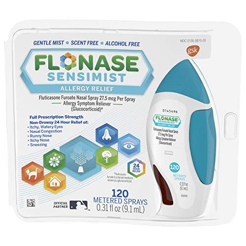 Flonase Sensimist Allergy Relief Nasal Spray Non Drowsy Allergy Medication, Gentle Mist - 120 Sprays