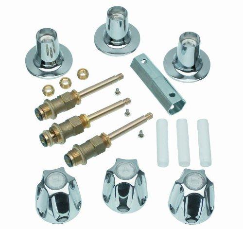 DANCO Bathtub and Shower 3-Handle Remodel/Rebuild Trim Kit for Price Pfister Verve Faucets   Knob Handle   12H-2H, 12H-2C, 12H-18D   Chrome (39619)