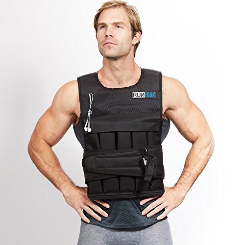 RUNFast 12lbs-140lbs Weighted Vest (with Shoulder Pads, 80lbs)