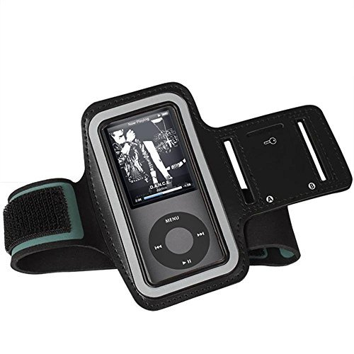HONGYU Sports Armbands MP3 Player Armband Breathable Jogging Sweatproof with Key Pocket Running Accessories for Apple iPod Nano 4th Generation and Other ONN RUIZU etc. MP3 MP4 Players