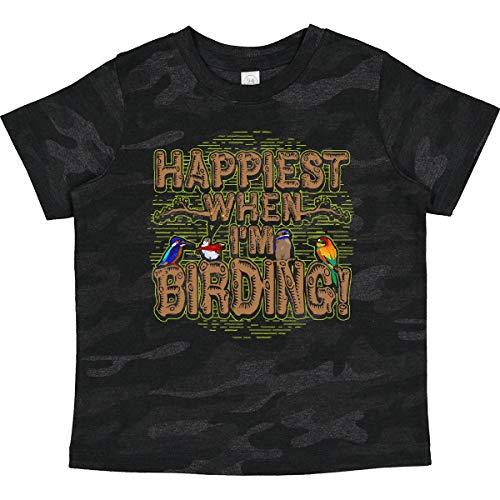 inktastic Bird Watching Happiest When Toddler T-Shirt 2T Storm Camo 30c99