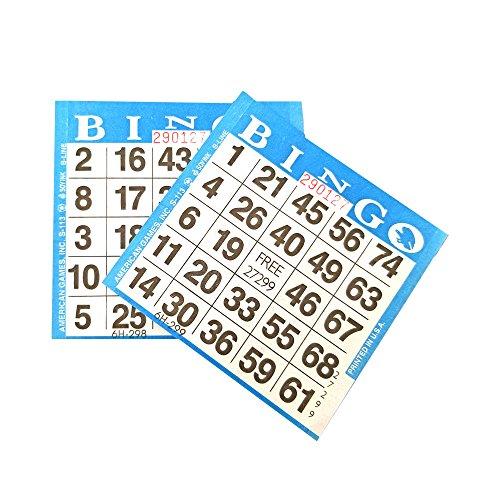 American Games 1on Blue Bingo Paper (500 Sheets)