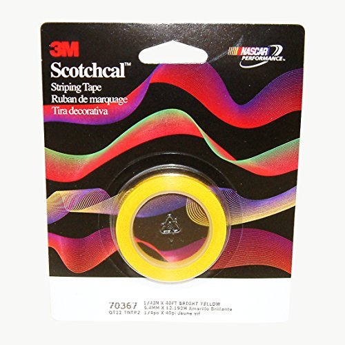 3M Scotchcal Striping Tape 70367, Bright Yellow, 1/4 in x 40 ft