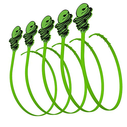 Green Gobbler Hair Grabber Drain Tool | Hair Clog Remover | Drain Opener for Sinks, Tubs & Showers - Pack of 5