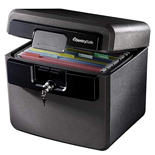 SentrySafe HD4100 Fireproof Safe and Waterproof Safe with Key Lock 0.65 Cubic Feet , black