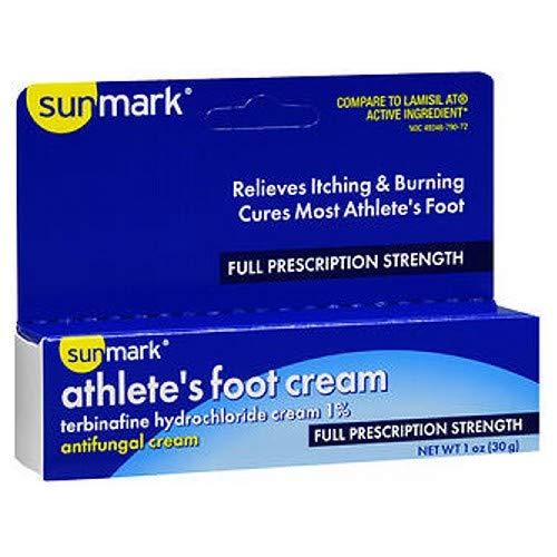 Sunmark Athletes Foot Cream Full Prescription Strength, 1 oz by Sunmark (Pack of 2)