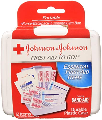 JOHNSON & JOHNSON First Aid to Go Kit 12 Items 1 Each (Pack of 7)
