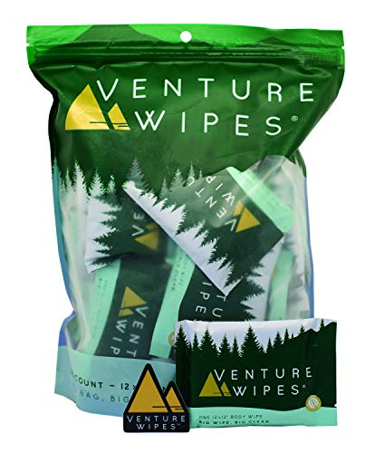 Venture Wipes: Large 12x12 Inch Individually Wrapped Body Wipes - Natural Ingredients & Biodegradable. Textured Wipe with Tea Tree Oil is an Outdoor Shower in a Pouch #DirtHappens (25)