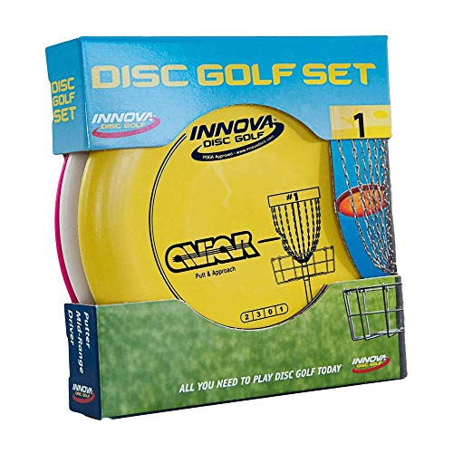 Innova Disc Golf Set – Driver, Mid-Range & Putter, Comfortable DX Plastic, Colors May Vary (3 Pack)