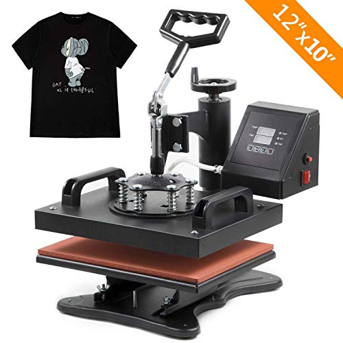 PRO Swing Away 12' X 10' Digital Heat Press Clamshell Transfer Sublimation Machine for T Shirts