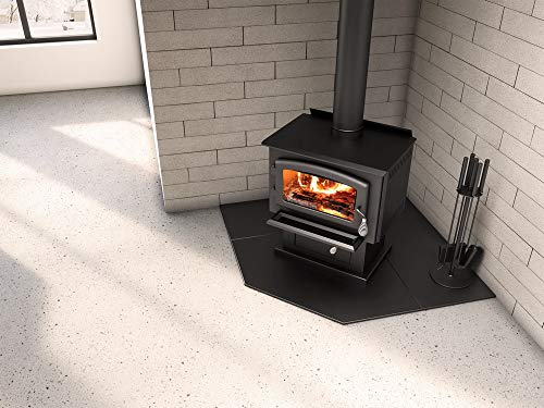 SBI Heating Accessories 60' Corner Modular Floor Protection System for Wood and Pellet Stoves - Hearth Pad AC02787