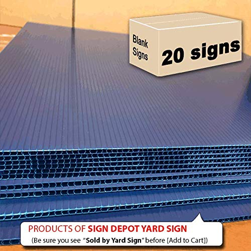 20 Signs Navy Blue 18 x 24 inch x 4 mm Corrugated Plastic Sign Board, Pack of 20 Pieces, Ship Same Day