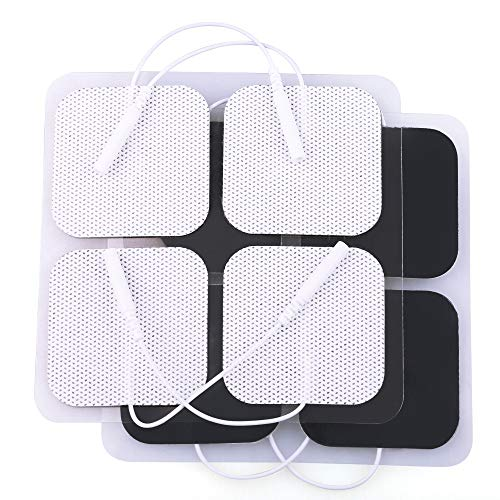 "TENS Electrode Pads, 20PCS, 2""x2"", TENS Unit Replacement Pads for Electrotherapy, EMS Muscle Stimulation Machine, Reusable"