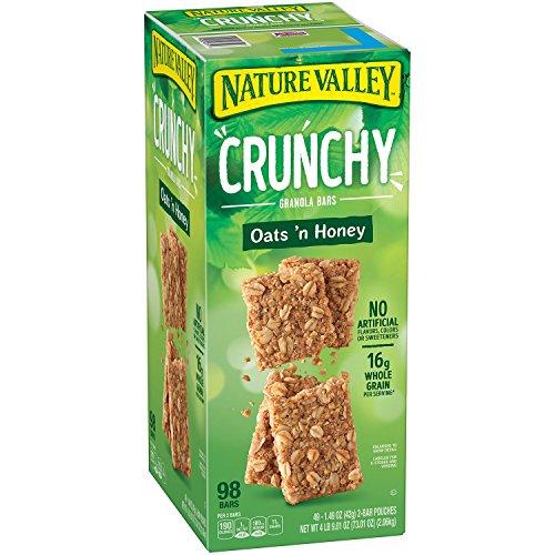Nature Valley Crunchy Granola Bars Oats 'N Honey ( 98 Bars Total , 1.49oz bars )