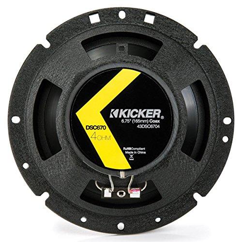 2 Kicker 43DSC6704 D-Series 6.75' 240W 2-Way 4-Ohm Car Audio Coaxial Speakers