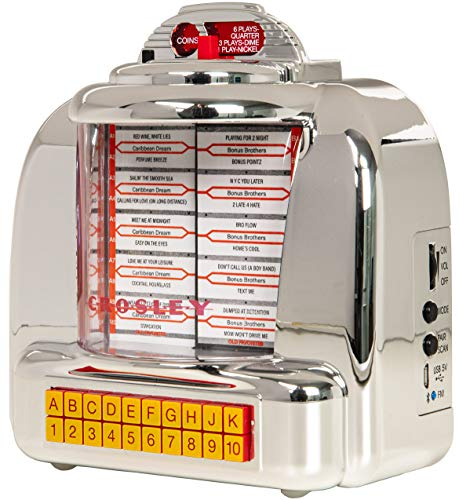 Crosley CR1120A-SI Diner Mini Jukebox Bluetooth Tabletop FM Radio