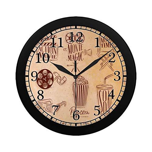 INTERESTPRINT Cinema Signs Clapperboard Large Number Decorative Digital Wall Clock