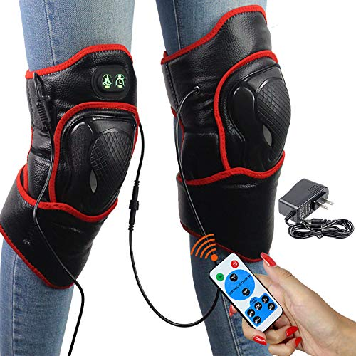 CREATRILL Knee Heating Pads (1 Pair) W/Remote Control, Auto Shut Off Far Infrared Heated Brace Wrap Support W/Moist Heat for Meniscus Tear, Arthritis, ACL, MCL, Joint Muscle Injury Pain Relief