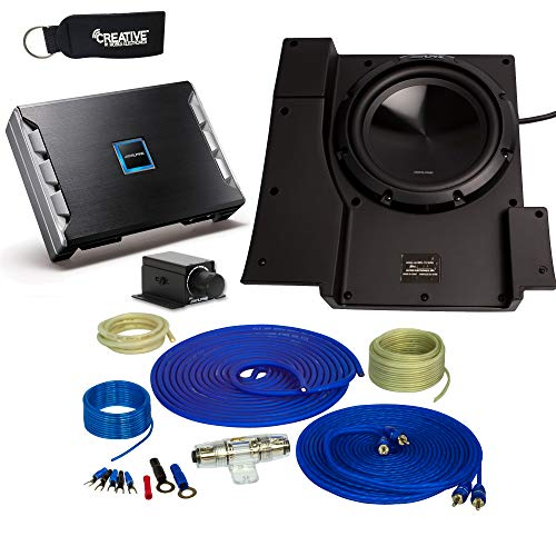 Alpine SBV-10-WRA 10-Inch Subwoofer for 2007-2018 Jeep Wrangler with PDR-M65 Amplifier, Wire kit and bass knob
