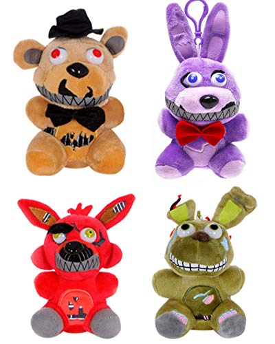 Five Nights at Freddy's Plush 15cm-18cm Doll Stuffed Animals Soft Figure Anime Collection Toy--4PC/Set
