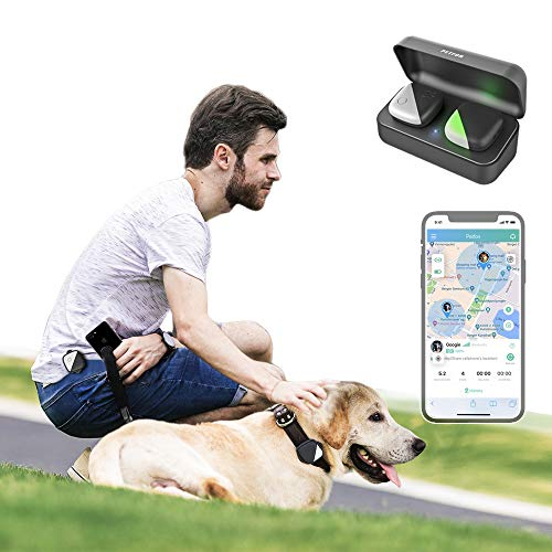 PETFON1 Dog GPS Pet Tracker, No Monthly Fee, Real-Time Tracking Collar Device, APP Control (Only for Dog) Activity Monitor