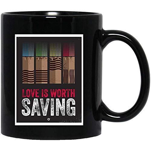 Genuine Store #Obscura Series Fifth Element Cinema Stones Poster Love is Worth Saving Costume Movie Drama Sitcom tv Show Comedy ActionCoffee Mug Gift for Women and Men Tea Cups