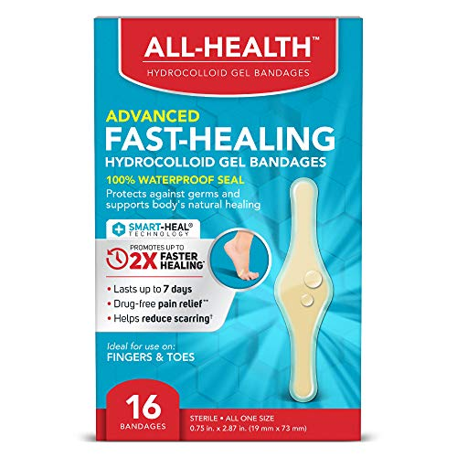 All Health All Health Advanced Fast Healing Hydrocolloid Gel Bandages, Fingers & Toes, 16 ct | 2X Faster Healing for First Aid Blisters or Wound Care