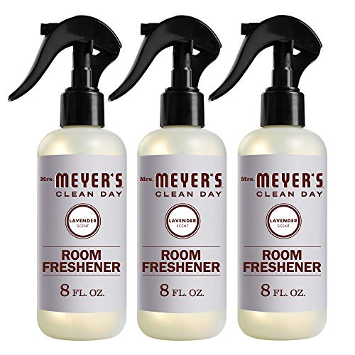 Mrs. Meyer's Clean Day Room and Air Freshener Spray, Non-Aerosol Spray Bottle Infused with Essential Oils, Lavender Scent, 8 fl oz - Pack of 3