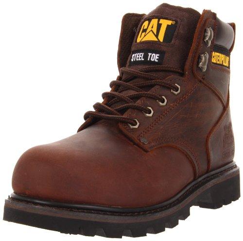 Caterpillar Men's Second Shift Steel Toe Work Boot, Dark Brown, 13 M US