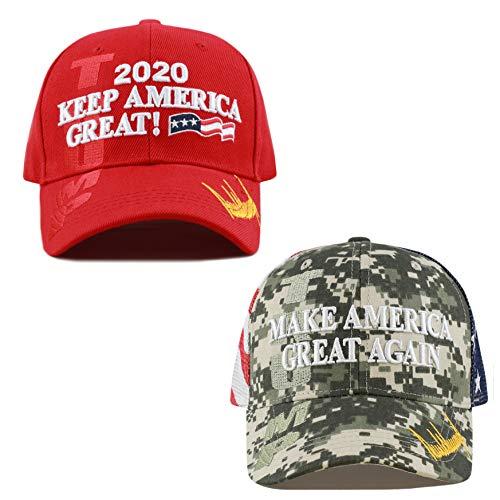The Hat Depot Exclusive Donald Trump Slogan Keep America Great/Make America Great Again 3D Cap (KAG Combo - DICM)