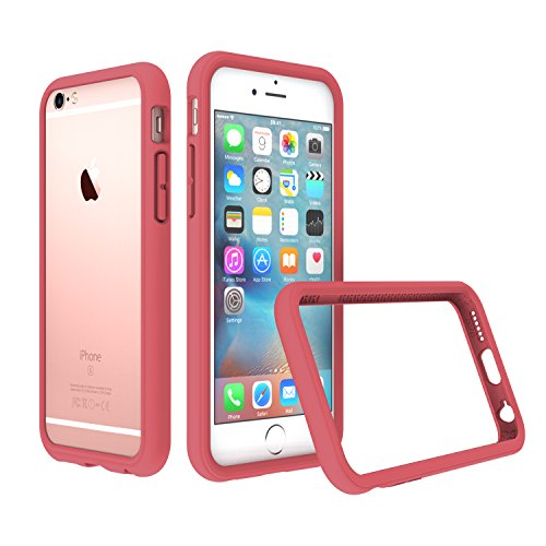 RhinoShield Bumper Case Compatible with [iPhone 6 Plus/iPhone 6s Plus]   CrashGuard - Shock Absorbent Slim Design Protective Cover [3.5 M / 11ft Drop Protection] - Coral Pink