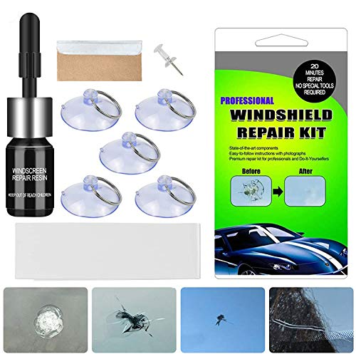 BESWORLDS Car Windshield Repair Kit - Windshield Repair Kit with Pressure Syringes for Fix Windshield Chips, Cracks, Bulls-Eye, Star-Shaped and Half-Moon Cracks