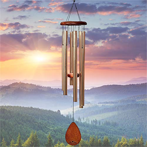 """UpBlend Outdoors Large Wind Chime - The Classic Havasu is 38"""" Total Length - Hand-Tuned and Beautiful as a Gift or for Your Patio, Garden, and Outdoor Home décor"""